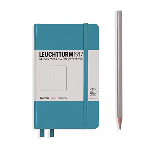 LEUCHTTURM1917 Hard Cover Small (A6) Pocket Notebook, Nordic Blue, Dotted
