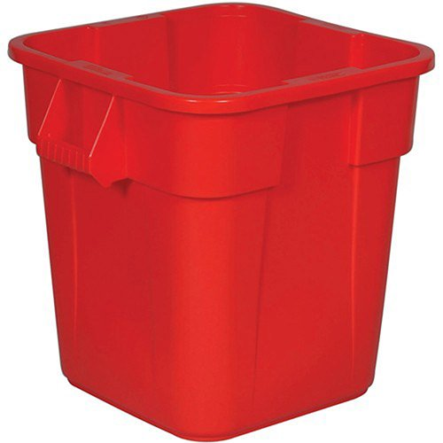 RUBBERMAID BRUTE Square Container - 28-Gallon Capacity - Red by BRUTE