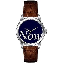 JLS Creative Watches Men's Vintage Design Leather Brown Band Wrist Watch Now Wristwatch