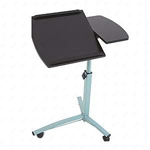 uenjoy ruedas para ordenador portátil mesa mesa para cama escritorio TV bandeja de alimentos Hospital PC
