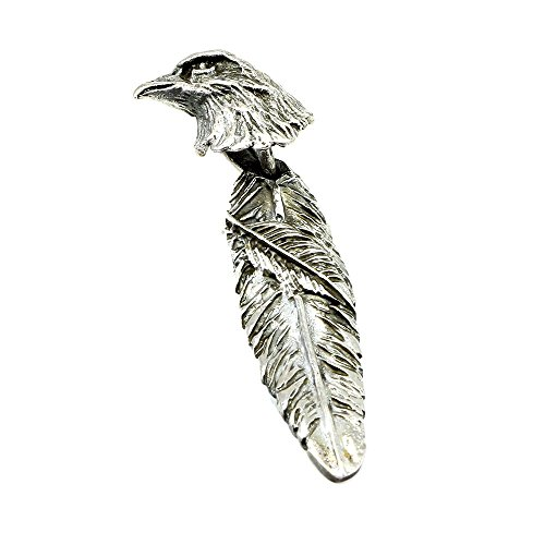 Eagle Head Pendant - Blue Apple Co. Feather Pendant Solid 925 Sterling Silver Eagle Pendant Feather Eagle Head Charm