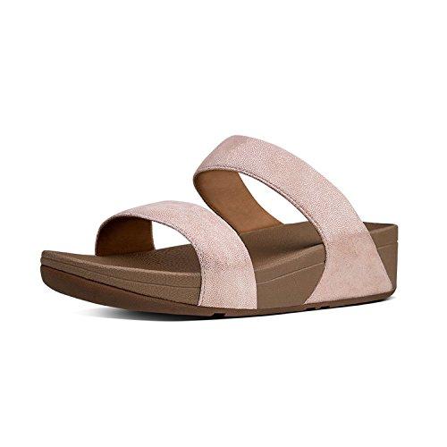 Fitflop Women's Shimmy Suede Slide Sandals - Rose Gold