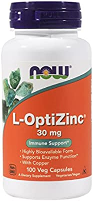 Now Opti L-zinc, 30mg, 100 Capsules (Pack of 3)