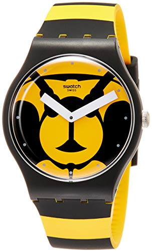 Swatch Originals Max L'Abeille Yellow Dial Silicone Strap Unisex Watch ()