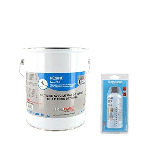 Ré sine polyester soloplast type eco 5 KG avec durcisseur