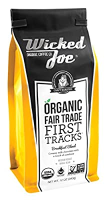 Wicked Joe Organic Coffees, Whole Bean Coffee, Fair Trade, Non GMO and B Corp Certified