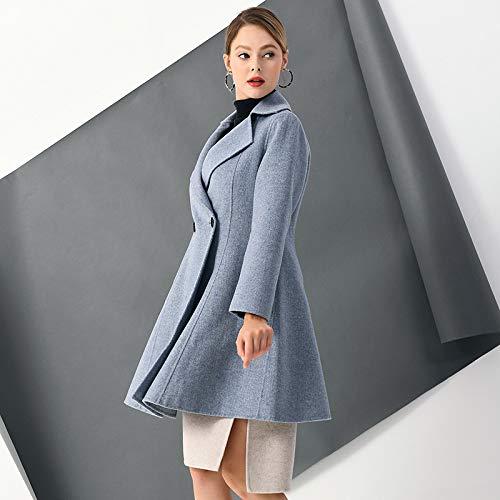 Bleu Vintage Chaud Veste Manteau En Lâche Pour Broderie D'hiver S Laine Et Femmes Coupe Boucle Automne Vioy vent Les dSpqwW8nT8
