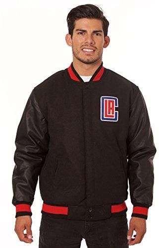 Los Angeles Clipers Jacket   Wool   Nylon Reversible  Large