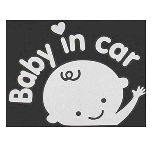 3D Cartoon Auto Aufkleber Reflektierende Vinyl-Styling-Baby im Auto Erwärmung Auto Aufkleber Baby on Board auf hinten Windschutzscheibe Men