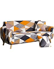 nordmiex Pattern Sofa Slipcover Stretch Arm Chair Large Sofa Slipcovers Leather Furniture Protector for 4-Seat Sofa,Black/White/Grey/Orange