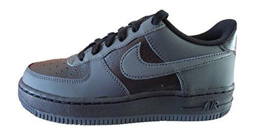 Nike Air Force 1 PS # 596729 041 Black Blue Little Kids SZ 10.5-3