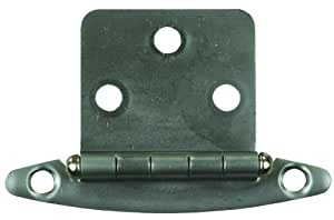JR Products 70655 Satin Nickel Free Swing Flush Mount Hinge