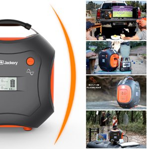 500Wh Portable Generator, Jackery Explorer / Power Pro Rechargeable Lithium Battery Pack Quiet Generator with 110V / 300W AC Outlet, 12V Car, USB Output Clean Off-grid Emergency Power Pack for Camping by Jackery (Image #7)