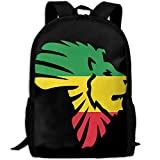 OIlXKV Lion Of Africa Print Custom Casual School Bag Backpack Multipurpose Travel Daypack For Adult