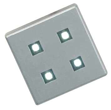 Leyton Lighting Set Of Square LED Plinth Lights Lumen Light - Kitchen plinth lights square