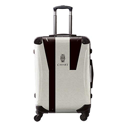 [キャラート] アート スーツケース ビジネス ナイト フレーム4輪 63L L 保証付 68 cm 4.1kg モノトーン B01M3XXHT7