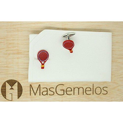 MasGemelos Gemelos Raqueta Padel Espa/ña Roja Cufflinks