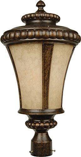 Craftmade Z1225-112 Post Mount Light with Antique Scavo Glass Shades, Bronze Finish