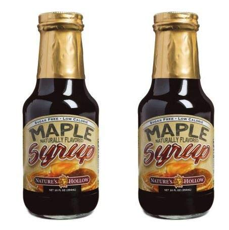 Nature's Hollow, Sugar-Free Maple Flavored Syrup 2-Pack, 10 Ounces Each
