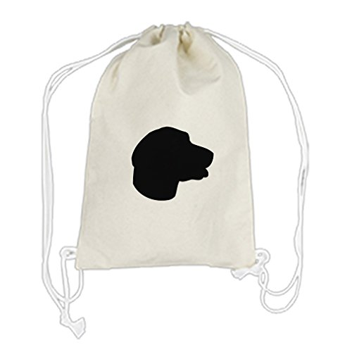 Backpack Drawstring Bag Canvas English Foxhound Silhouette By Style In (Foxhound Silhouette)