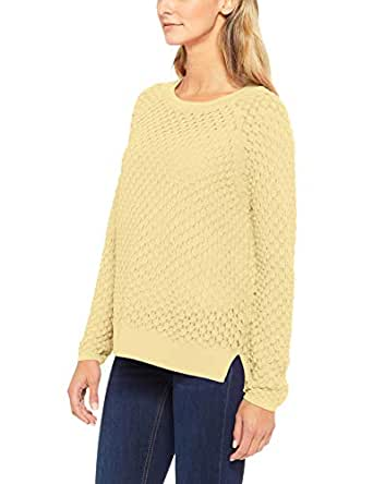 French Connection Women's Ella Popcorn Knit, Sunshine Yellow, Extra Small