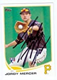 Jordy Mercer autographed Baseball Card (Pittsburgh Pirates) 2013 Topps #421 Rookie Card