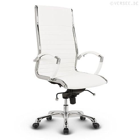 Bürostuhl weiß leder  Versee Leder Design Drehstuhl Chefsessel Bürostuhl Montreal weiss ...