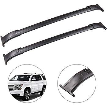 ANTS PART Roof Rack Roof Rails for 2015-2018 Chevrolet Suburban//Chevrolet Tahoe//GMC Yukon//Cadillac Escalade Cross Bar Black Pair Set