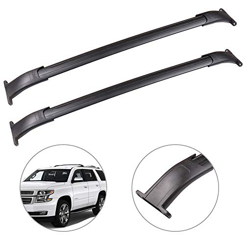 SCITOO fit for 2015-2018 Cadillac Escalade/Cadillac Escalade ESV/Chevrolet Suburban/Chevrolet Tahoe/GMC Yukon/GMC Yukon XL Aluminum Alloy Roof Top Cross Bar Set Rock Rack Rail ()