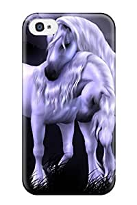 DklvSqn2109himFg Tpu Phone Case With Fashionable Look For Iphone 4/4s - Unicorn Love