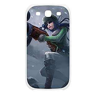 Caitlyn-002 League of Legends LoL For Case Iphone 4/4S Cover Plastic White