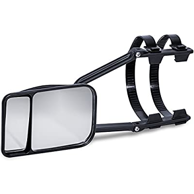 OxGord Deluxe Clip-on Dual Lens Universal Trailer Towing Mirror - Single Piece: Automotive