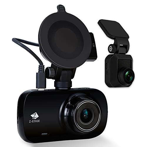 Z-Edge Z3D Dual Lens Dash Cam, Ultra HD 1440P Front & 1080P Rear 150 Degree Wide Angle Front and Rear Dash Cam, Dashboard Camera with GPS, WDR, Low Light Vision, ()
