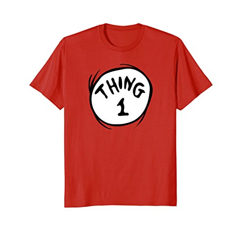Dr. Seuss Thing 1 Emblem RED T-shirt