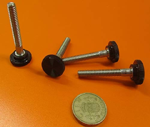 10 Pcs 18-8 SS Plastic Head Knurled Thumb Screws 1//4-20 Thread x 1.75 Length Fully Threaded