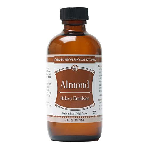 Vanilla Emulsion - Lorann Oils 13458 Food Flavor, 4 ounce, Almond