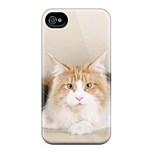 Fashion GOgRpYV1676yxNHr Case Cover For Iphone 4/4s(cat Trio)