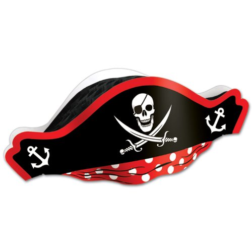 Beistle Printed Pirate Hat with Tissue Crown, 48 Hats ()