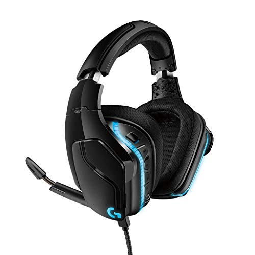 Logitech G635 Wired Gaming Headset, DTS Headphone:X 2.0 3D Surround Sound, 50 mm Pro-G Driver, USB and 3.5mm Audio Jack, Flip-to-Mute Mic, Lightsync RGB, G-Keys, PC/Mac/Xbox One/PS4/Nintendo Switch