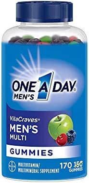 One A Day Men's VitaCraves Multivitamin Gummies, Supplement with Vitamins A, C, E, B6, B12, and Vitamin D, 170 Count