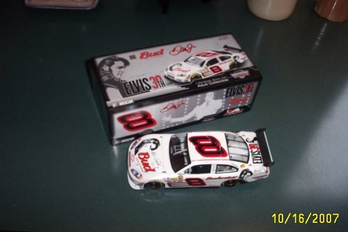NASCAR Dale Earnhardt Jr #8 Bud Budweiser Elvis Presley Car of Tomorrow COT Motorsports Authentics 1:24 Scale Hood Opens Trunk Opens