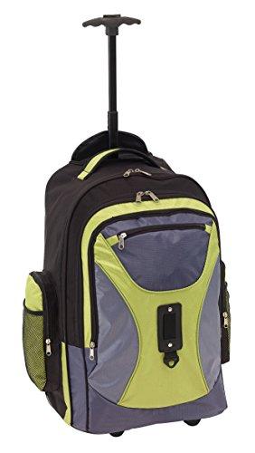 Rucksack Trolley mit gepolstertem Laptopfach verstellbaren Schultergurte Einhand Teleskopsystem Rucksäcke