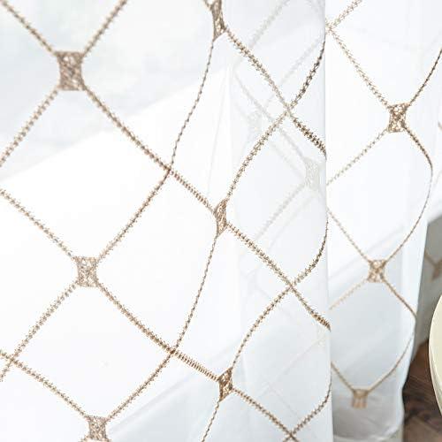 TuHao88 Netto gordijnen 48 in druppel Witte afwerking Verkocht per meter
