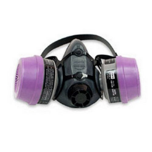 Mask Series 5500 North Half - 5500 Series Half Mask with 2 Organic Vapor Cartridges with P100 Filters, Size Small