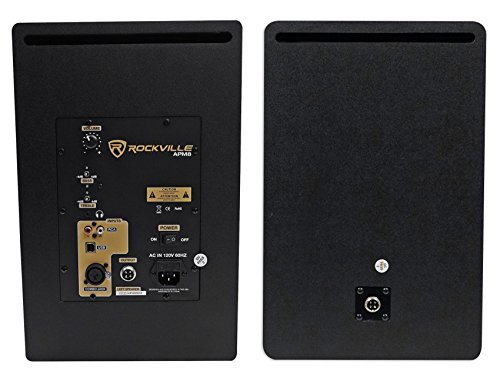 Rockville APM8B 8'' 2-Way 500W Active/Powered USB Studio Monitor Speakers Pair by Rockville (Image #4)