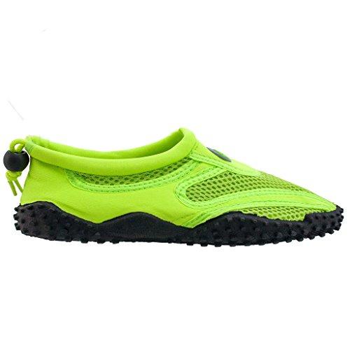 La Vague Femmes Chaussures De Leau Piscine Plage Aqua Chaussettes Yoga Exercice Tendances Snj 1155l Néon Vert