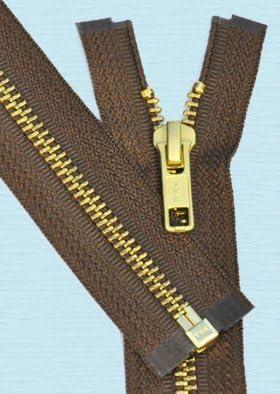 28\ Medium Weight Jacket Zipper YKK #5 Brass ~ Separating ~ 561 Silver Beige 1 Zipper//pack