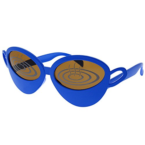 grinderPUNCH Coffee Lover Cappuccino Mug Sunglasses Cup Costume Blue