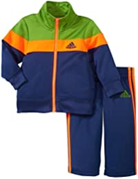 adidas Boys' Tricot Zip up Jacket and Pant Set