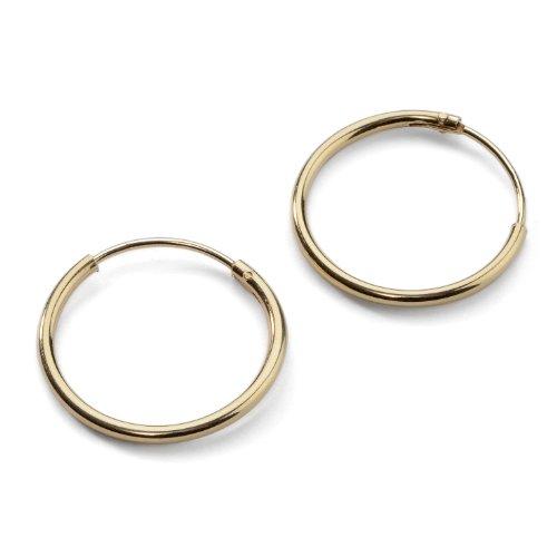Sterling Silver Endless Earrings Diameter